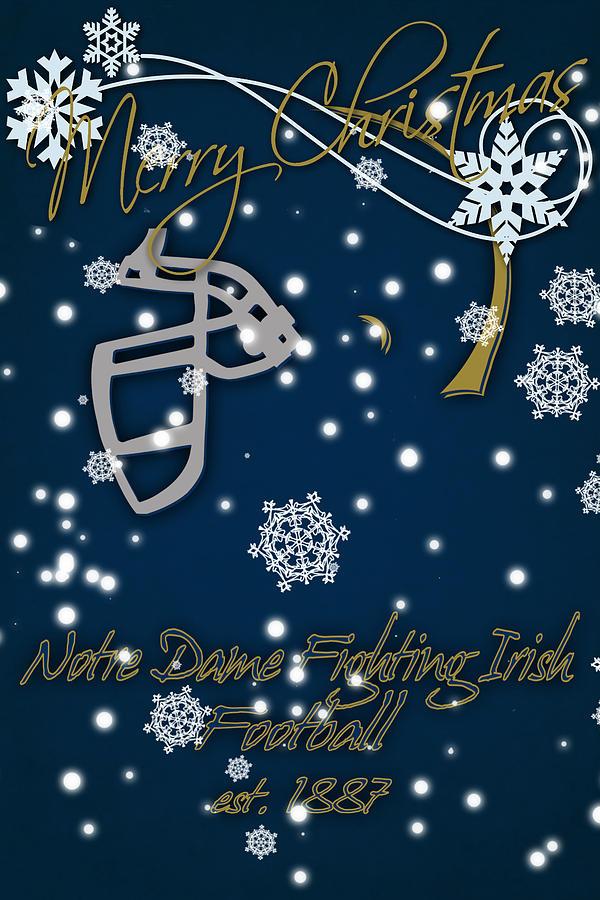 Notre Dame Fighting Irish Christmas Card Photograph by Joe Hamilton
