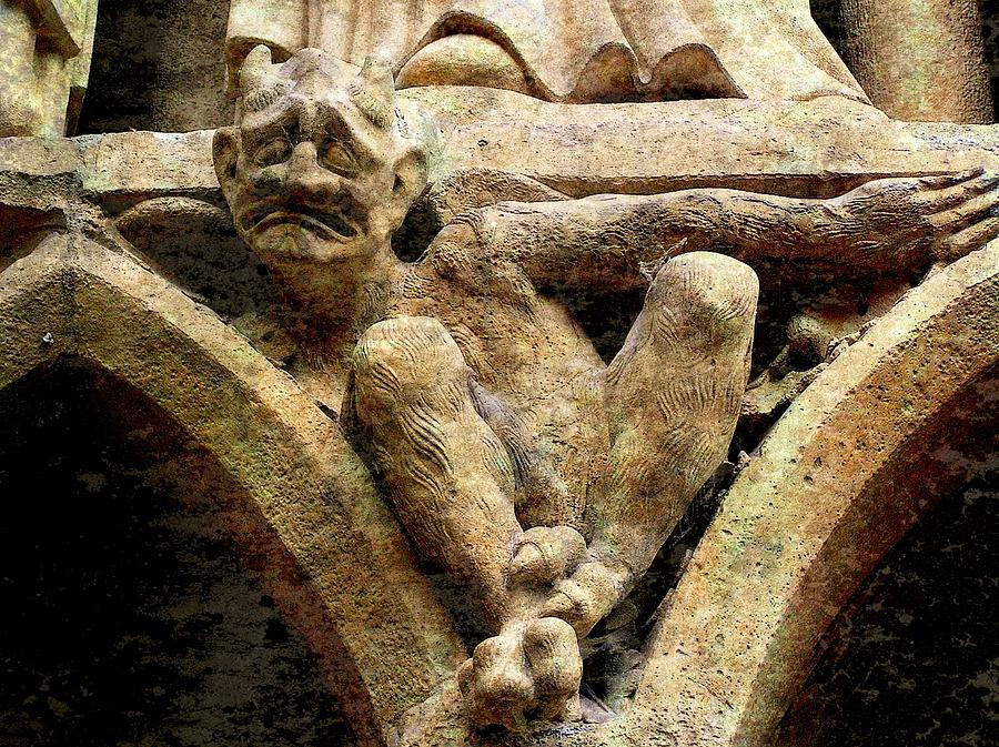 Notre Dame Photograph - Notre Dame Gargoyle - Paris by Jen White