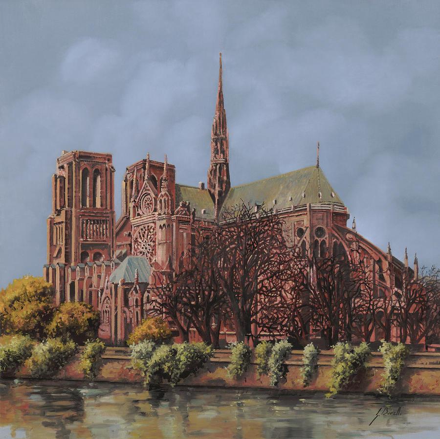 Paris Painting - Notre-dame by Guido Borelli