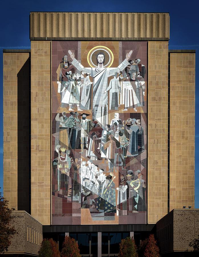 Notre Dame University Photograph - Notre Dames Touchdown Jesus by Mountain Dreams