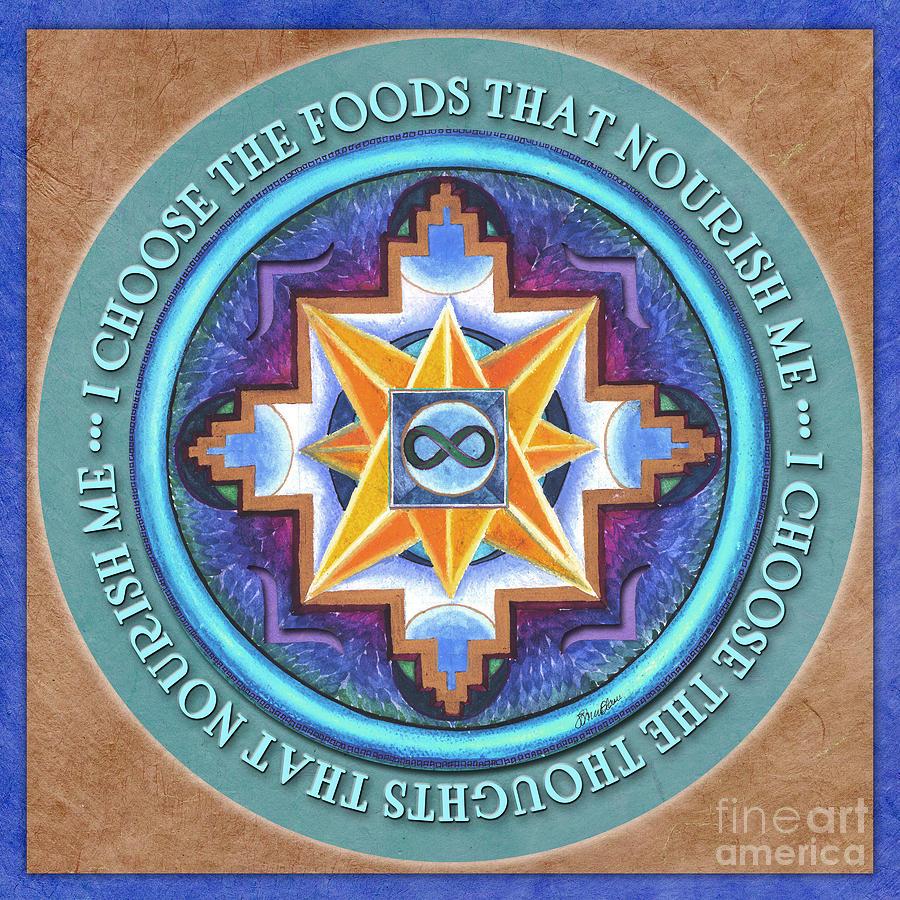 Mandala Painting - Nourish Mandala Prayer by Jo Thomas Blaine