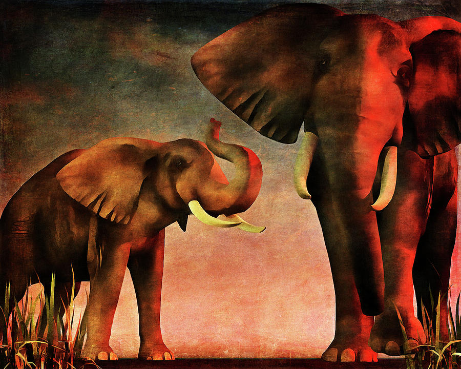 Africa Painting - Nous vous avons vu by Jan Keteleer