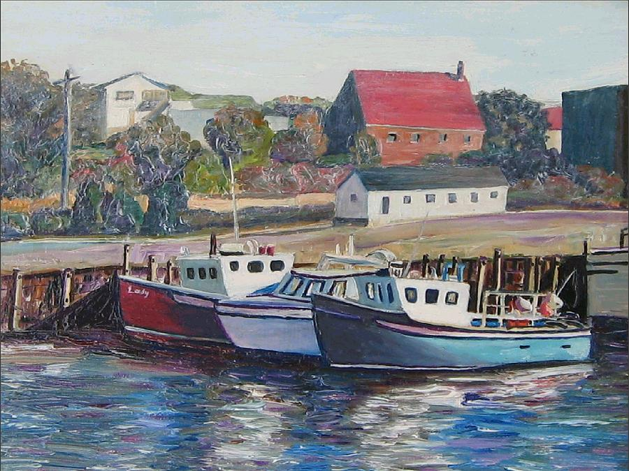 Nova Scotia Painting - Nova Scotia Boats by Richard Nowak