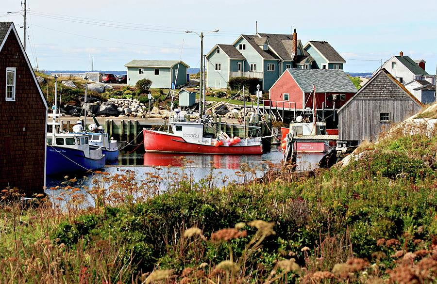 Fishing Photograph - Nova Scotia Fishing Community by Jerry Battle
