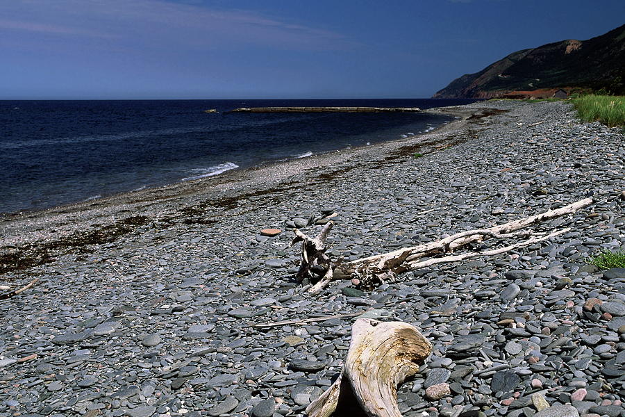 Pebble Beach Photograph - Nova Scotia Pebble Beach by Sally Weigand