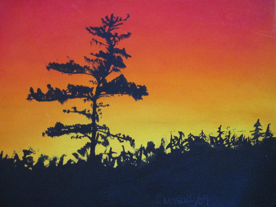 Watercolour Painting - Nova Scotia Tree by Tabitha Marshall