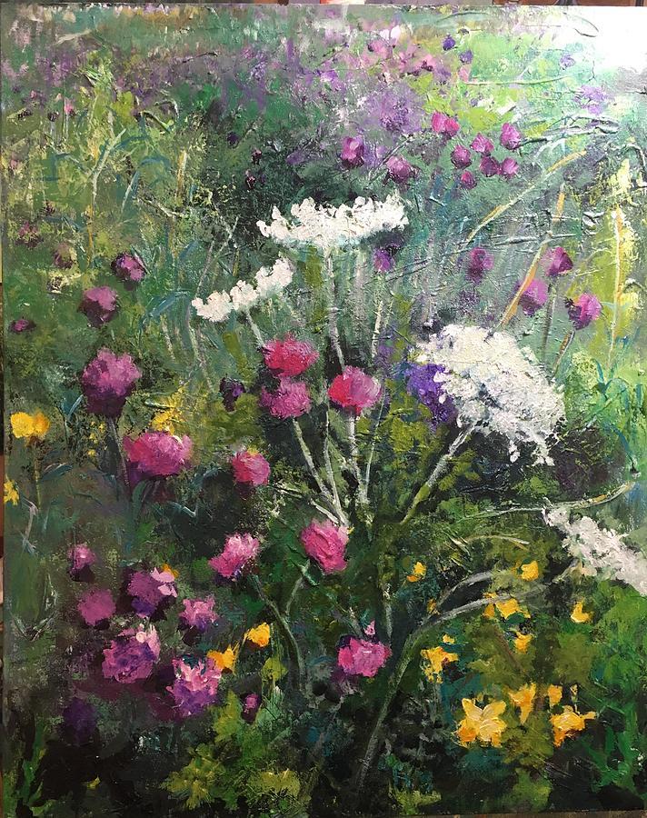 Wildflowers Painting - Nova Scotia Wildflowers by Debra Wronzberg