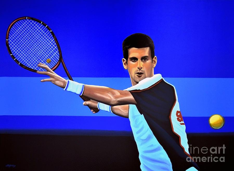 Novak Djokovic Painting - Novak Djokovic by Paul Meijering