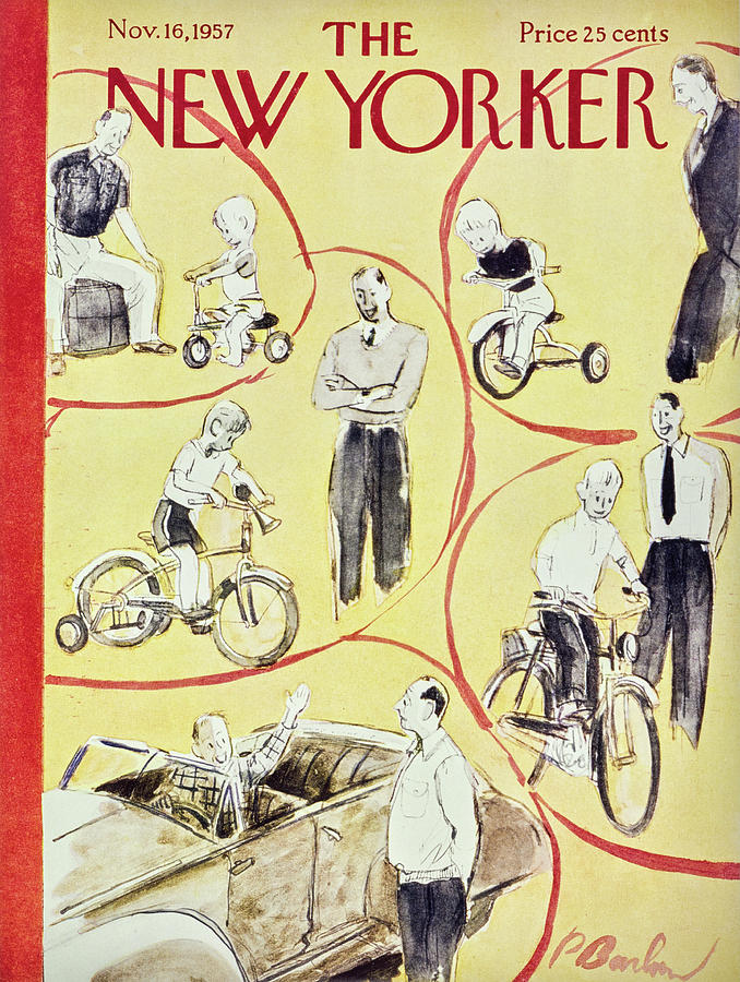 New Yorker November 16th 1957 Painting by Perry Barlow