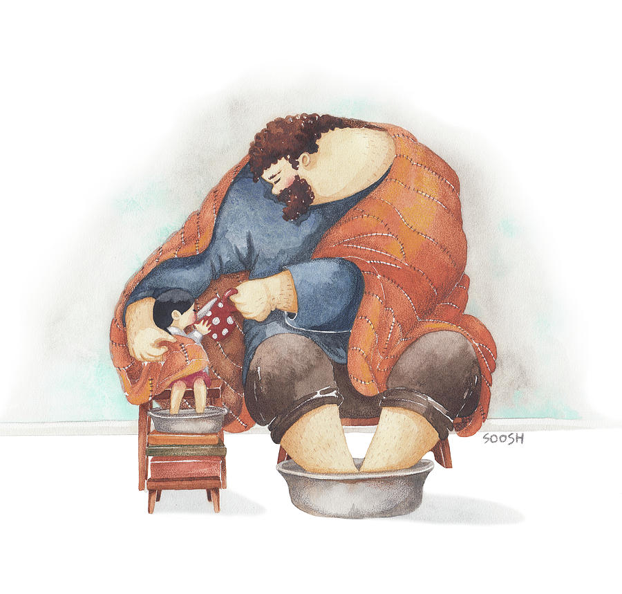 November Cuddles Drawing By Soosh