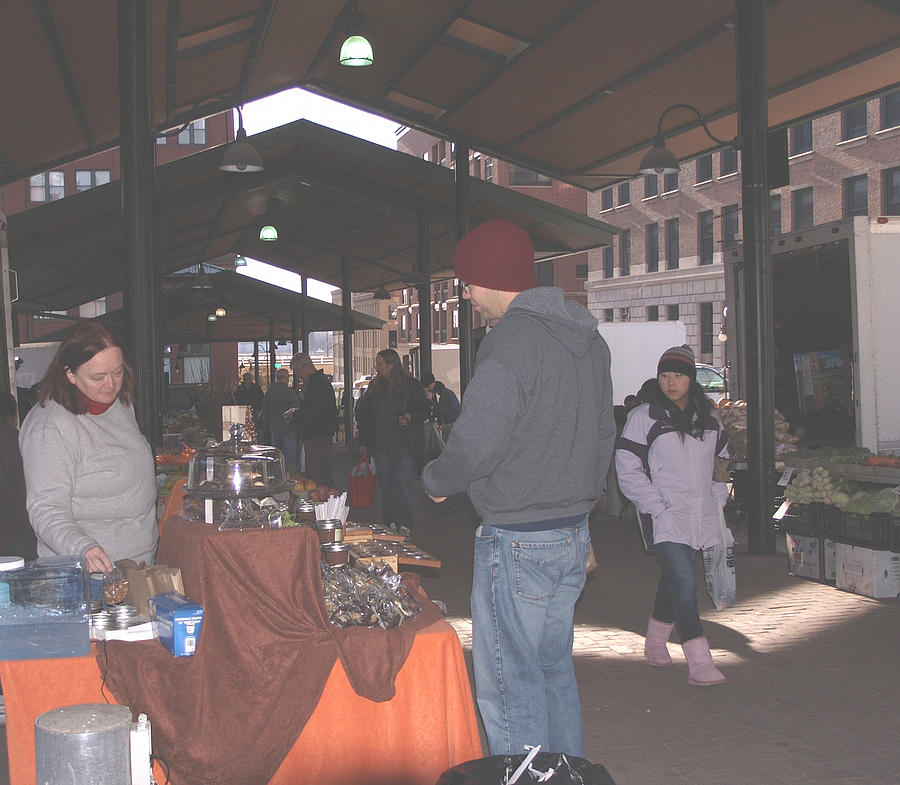 Farmers Market Photograph - November Farmers Market Lowertown by Janis Beauchamp
