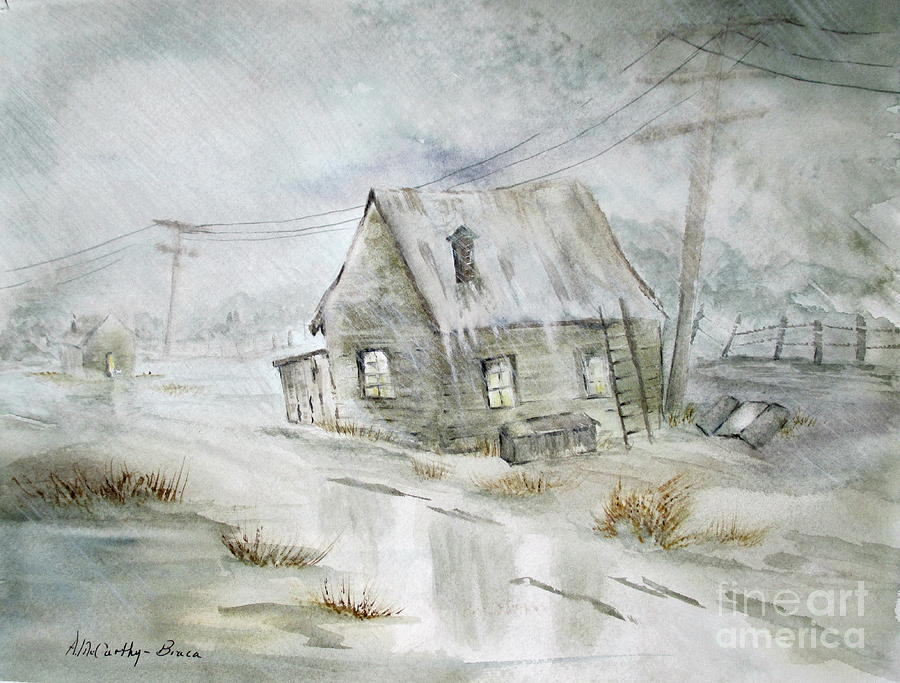 Storm Painting - November Rain by April McCarthy-Braca