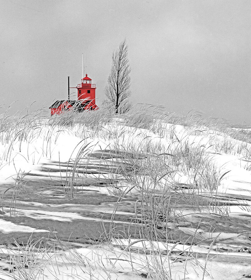 Big Red Photograph - November Reverie by James Rasmusson
