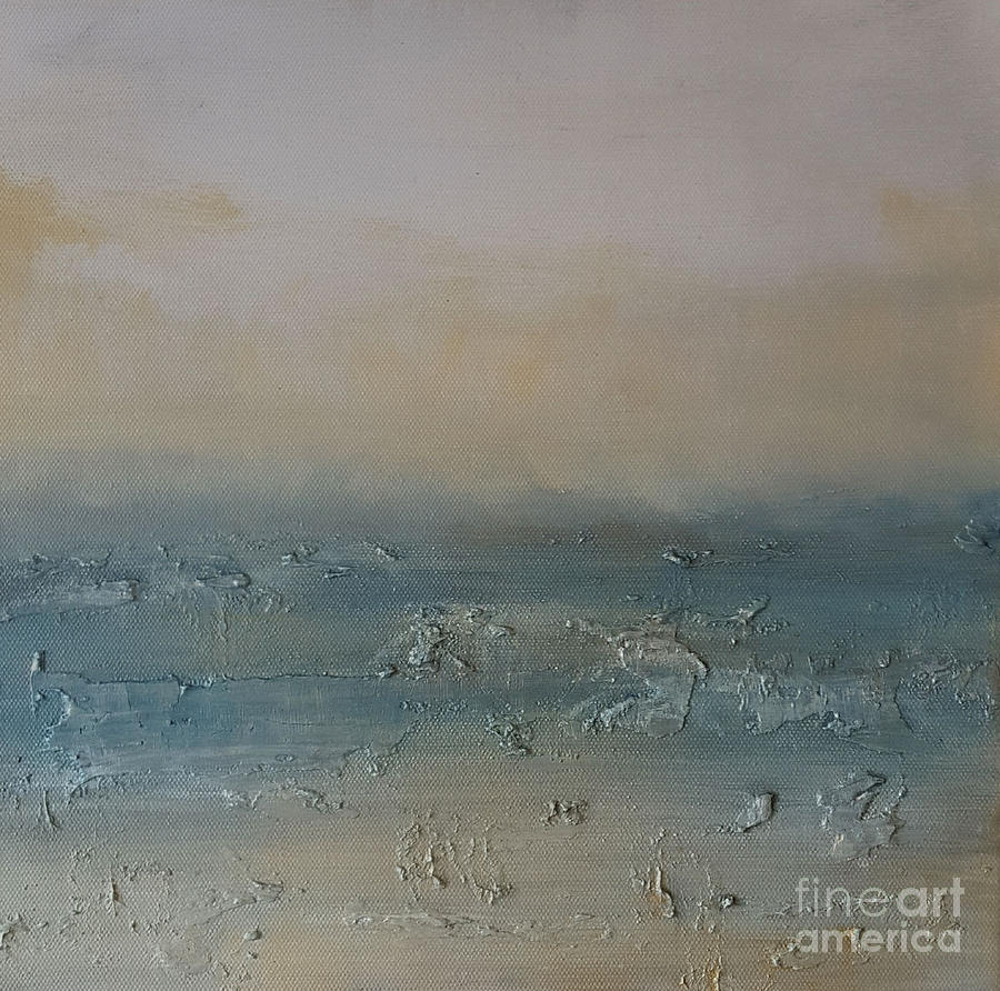 Art Print Painting - November Shores by KR Moehr