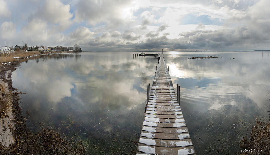 Jetty Photograph - November Skies by Robert Lacy