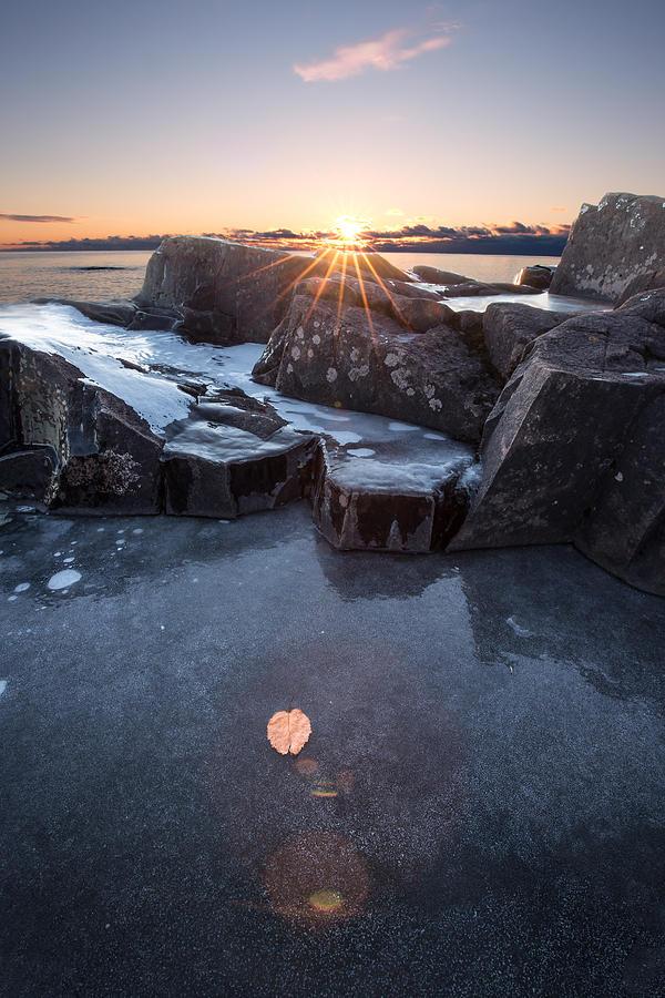 Canada Photograph - November  Sunrise At Artist Point, Grand Marais by Jakub Sisak