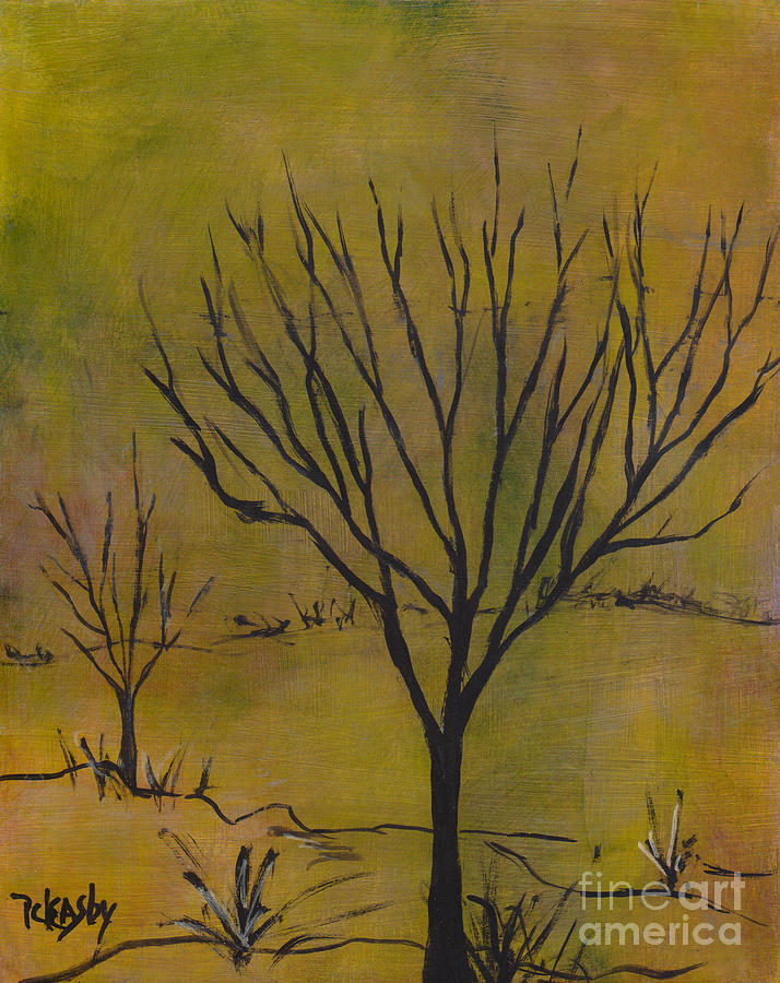 Tree Painting - November Tree by Patricia Cleasby