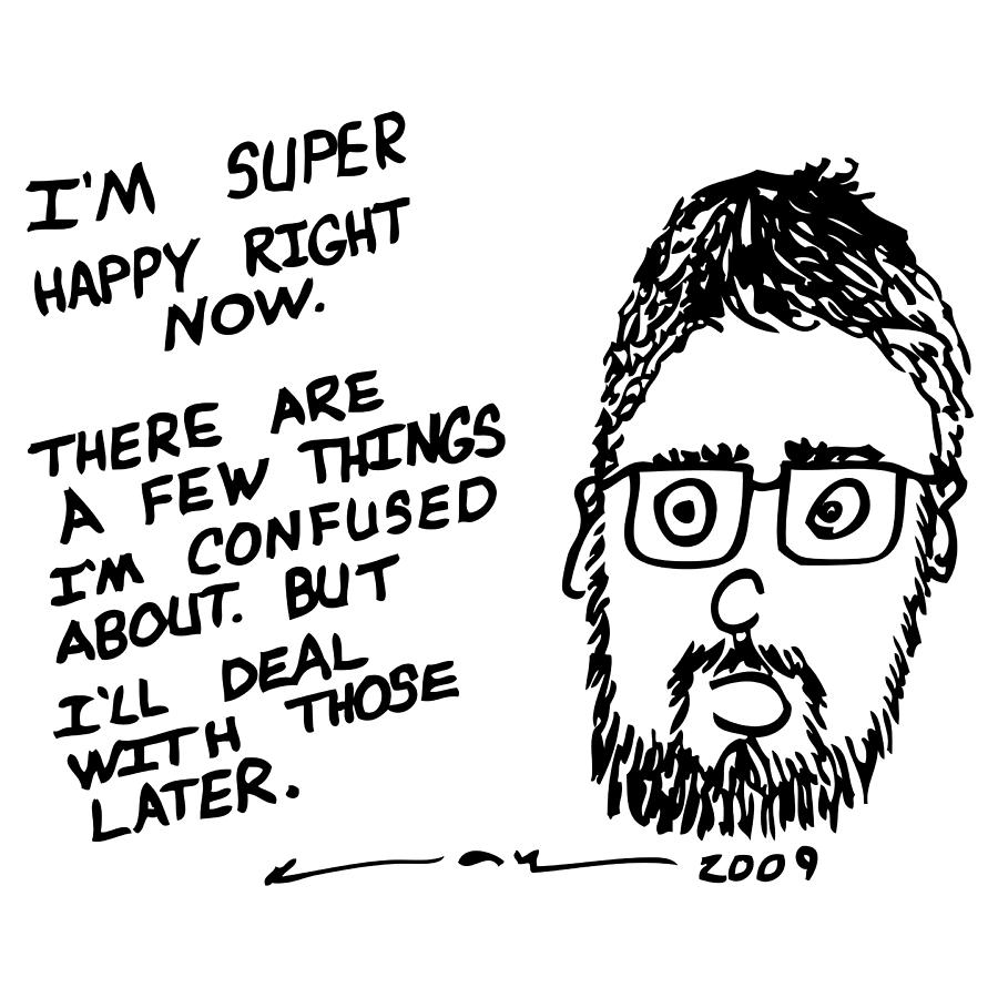 Drawing Drawing - Now Comic by Karl Addison