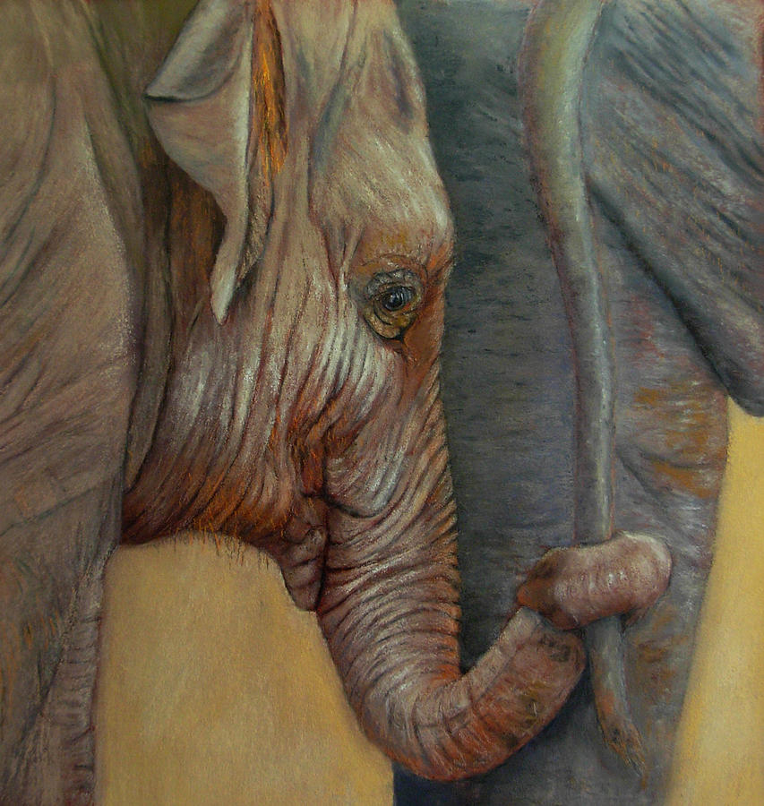 Africa Painting - Now You Hold On Tight by Ceci Watson