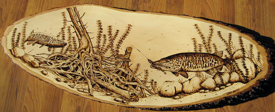 Water Pyrography - Nr10 by Ladi and Jane   Lapin