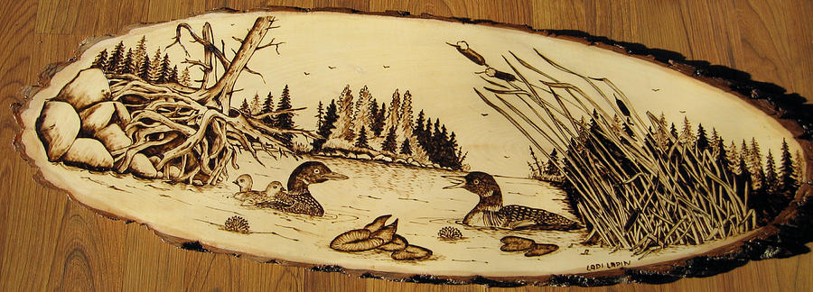 Water Pyrography - Nr11 by Ladi and Jane   Lapin