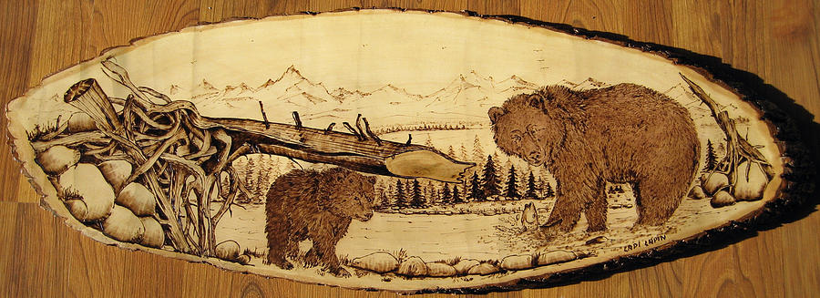 Water Pyrography - Nr17 by Ladi and Jane   Lapin