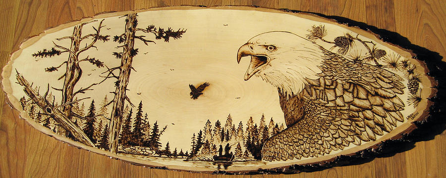 Water Pyrography - Nr5  by Ladi and Jane   Lapin