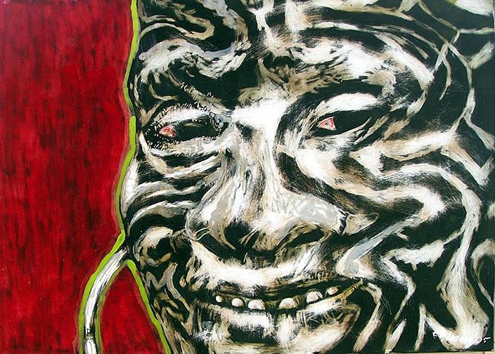 Nuba Paint Mixed Media by Chester Elmore