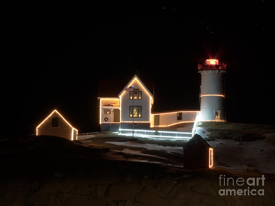 Nubble at Night by Patrick Fennell