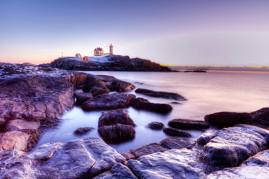 Nubble in the morning by Chris Babcock