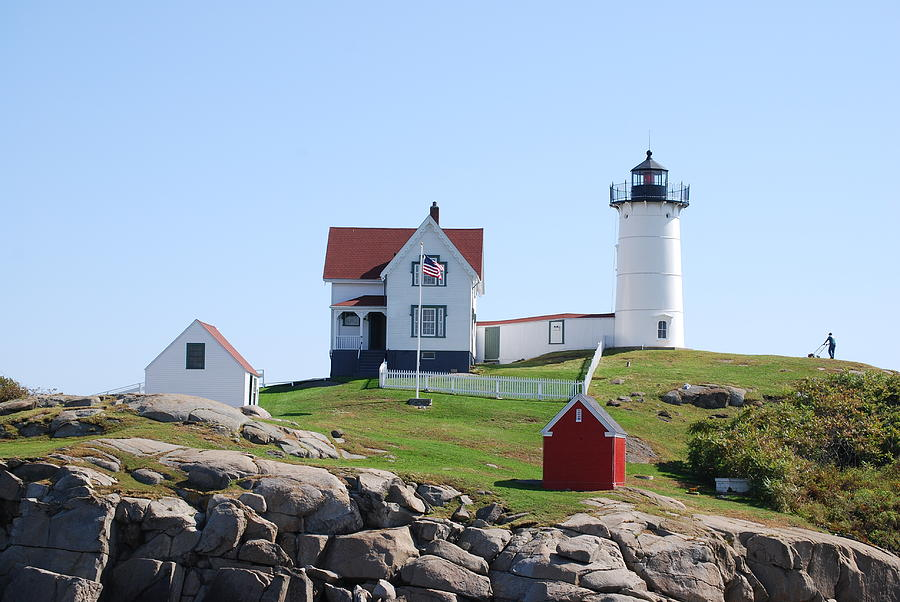Lighthouse Photograph - Nubble Light by Armand Hebert