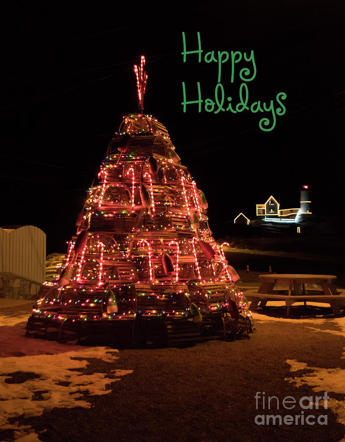 Nubble Light - Happy Holidays by Patrick Fennell