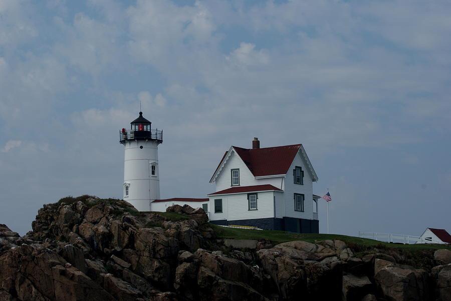 Lighthouse Photograph - Nubble Light Maine by Lois Lepisto