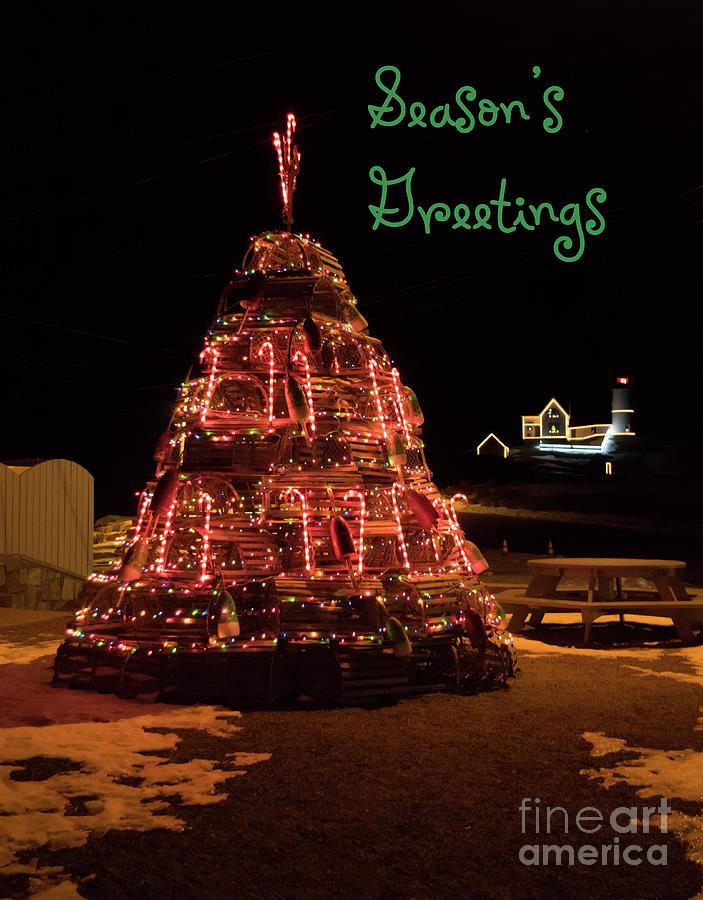 Nubble Light - Season's Greetings by Patrick Fennell