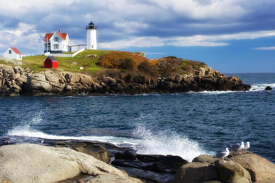Nubble Photograph - Nubble Lighthouse by John Daly