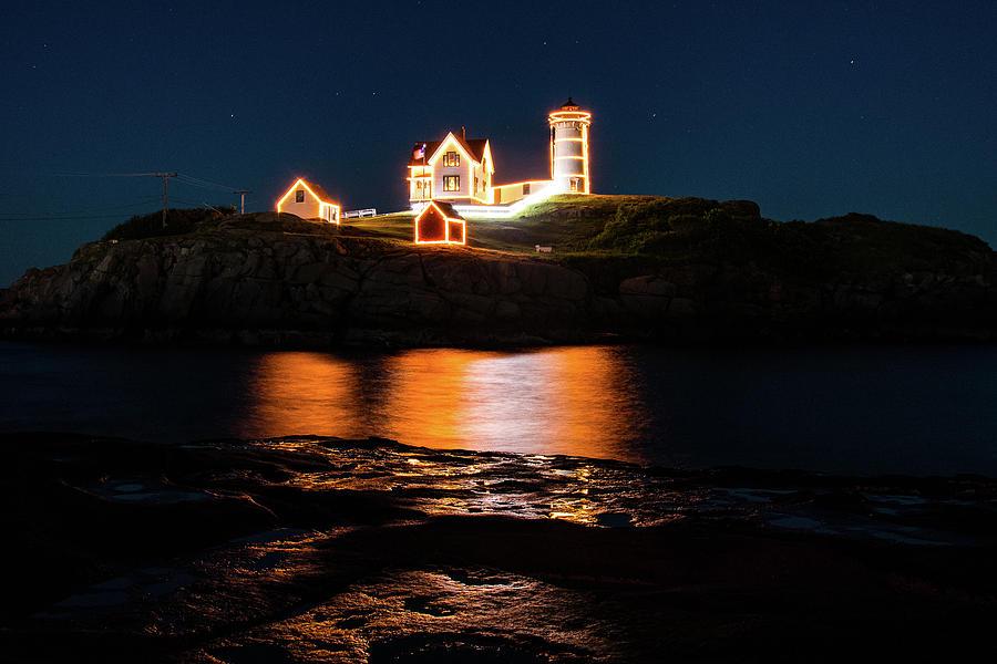 nubble Lighthouse, York Maine Photograph