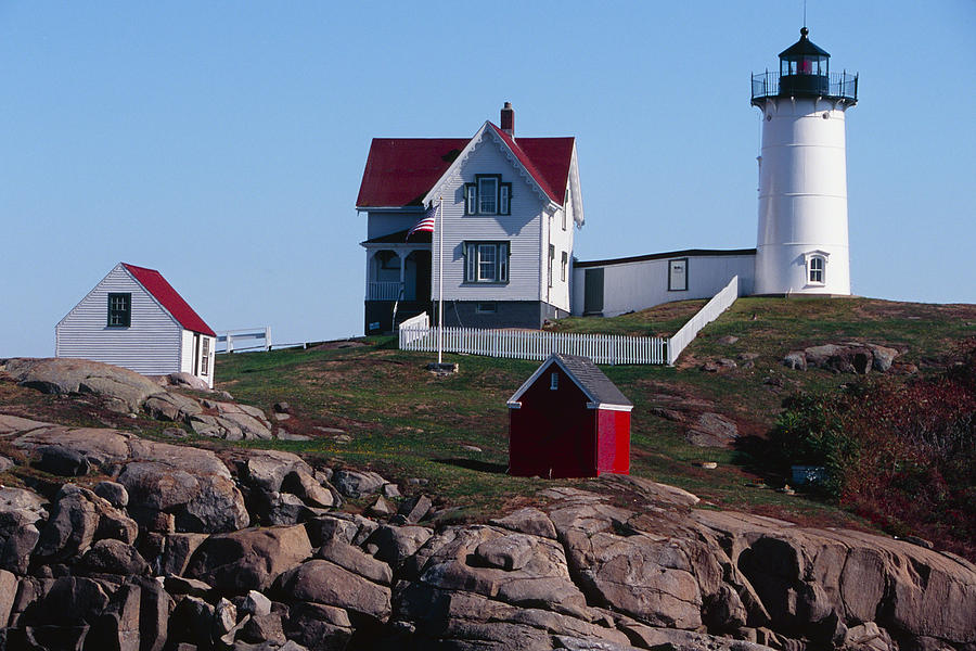 Architecture Photograph - Nubble Point Lighthouse by George Oze