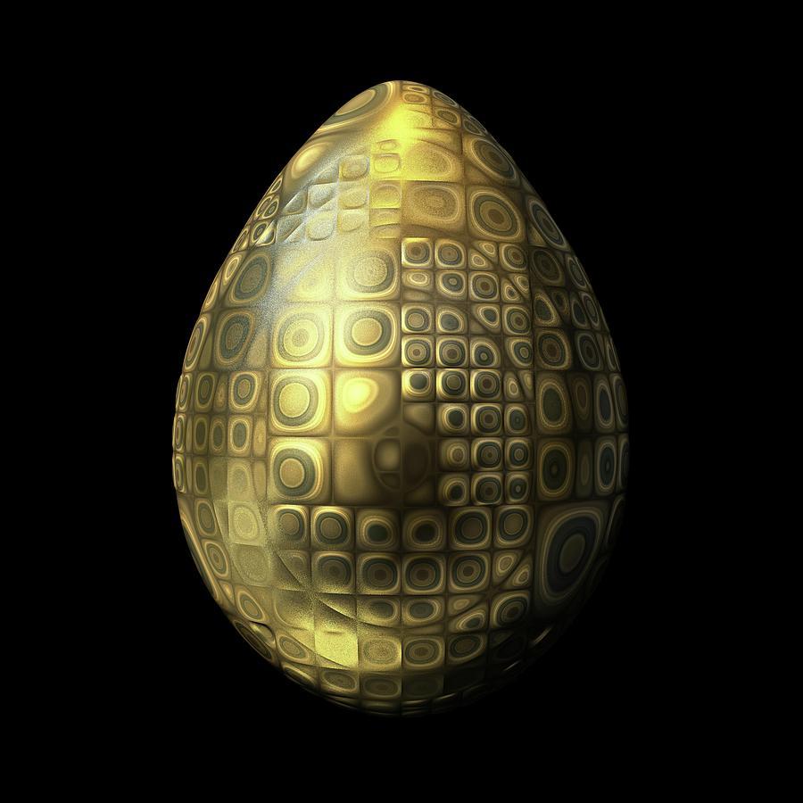 Nubbled Golden Egg Digital Art