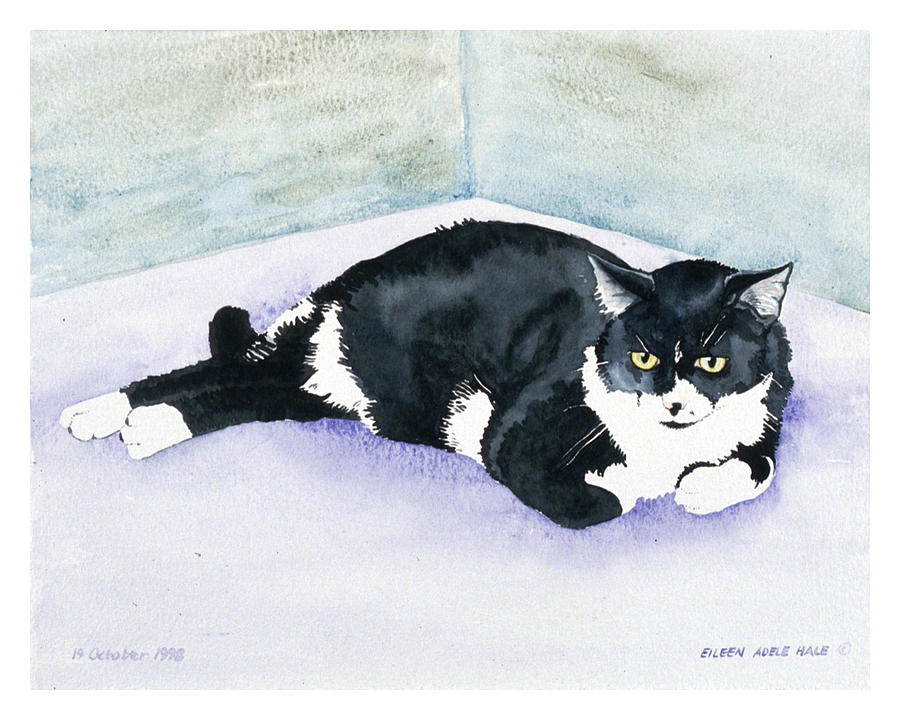 Portrait Painting - Nubby by Eileen Hale