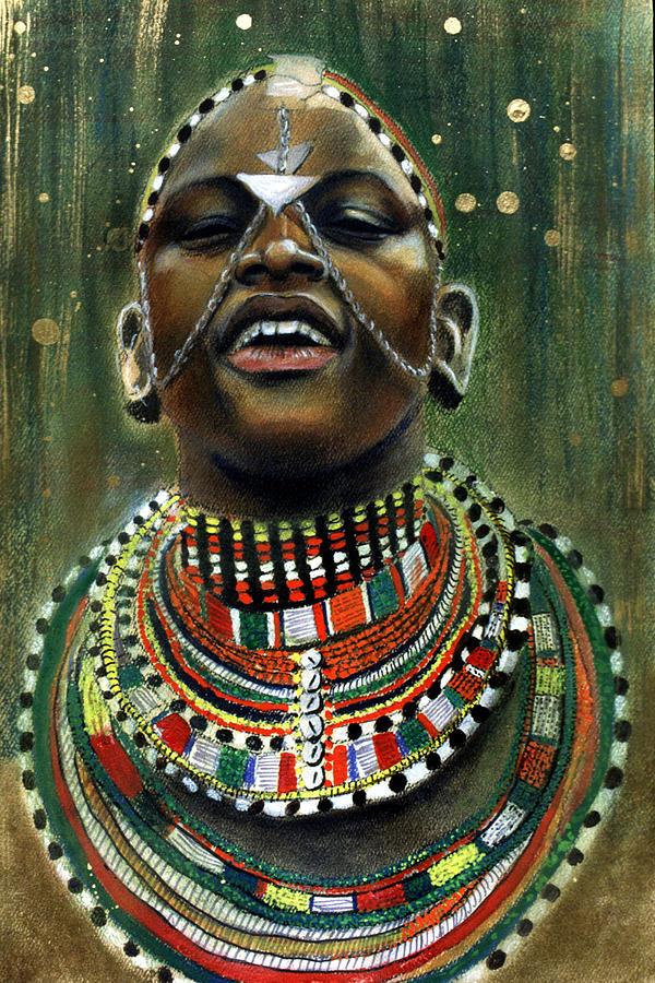 Portrait Pastel - Nubian Dream by Gary Williams