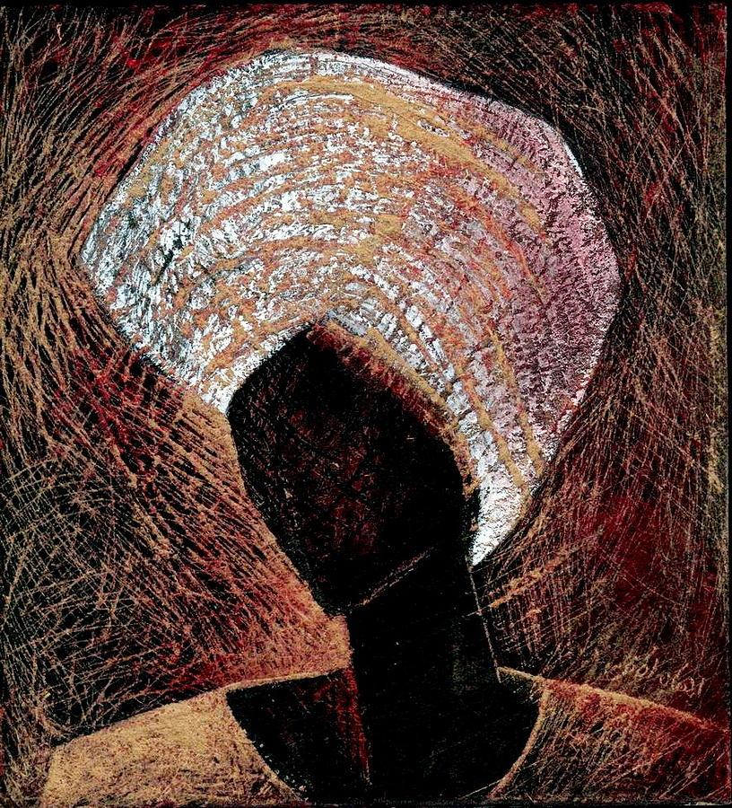 Nubian Figure Painting by Ehab Lotfi