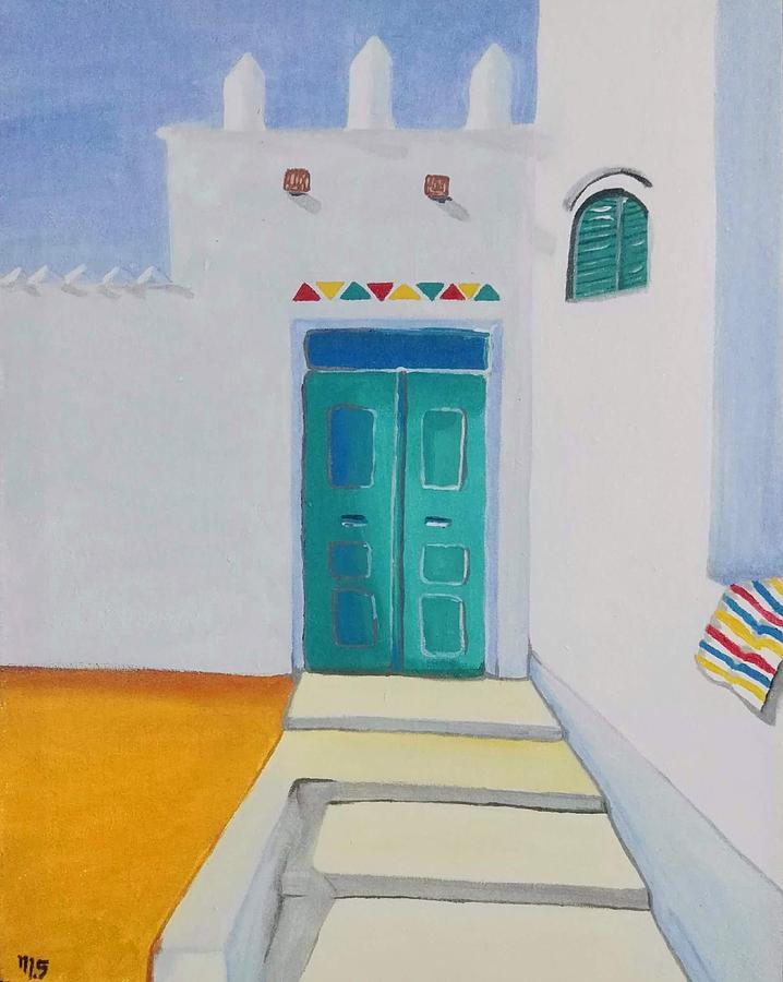 House Drawing - Nubian House by Mahmoud Selim