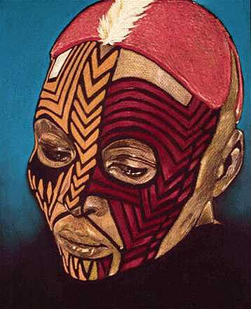 Portrait Painting - Nubian Mask by W James Taylor
