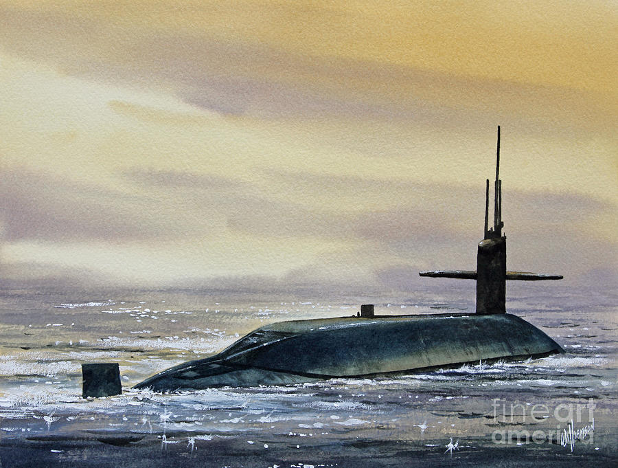 Nuclear Submarine Painting by James Williamson