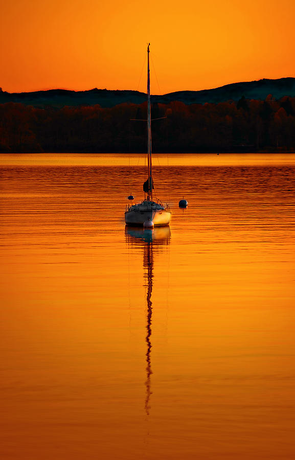 Windermere Photograph - Nuclear Sunset by Meirion Matthias