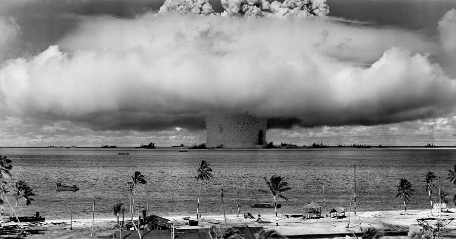 Nuclear Weapon Test - Bikini Atoll Photograph