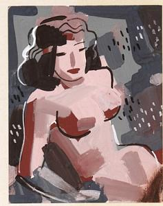 Nude Painting - Nude 1 by Forrest  Hibbits