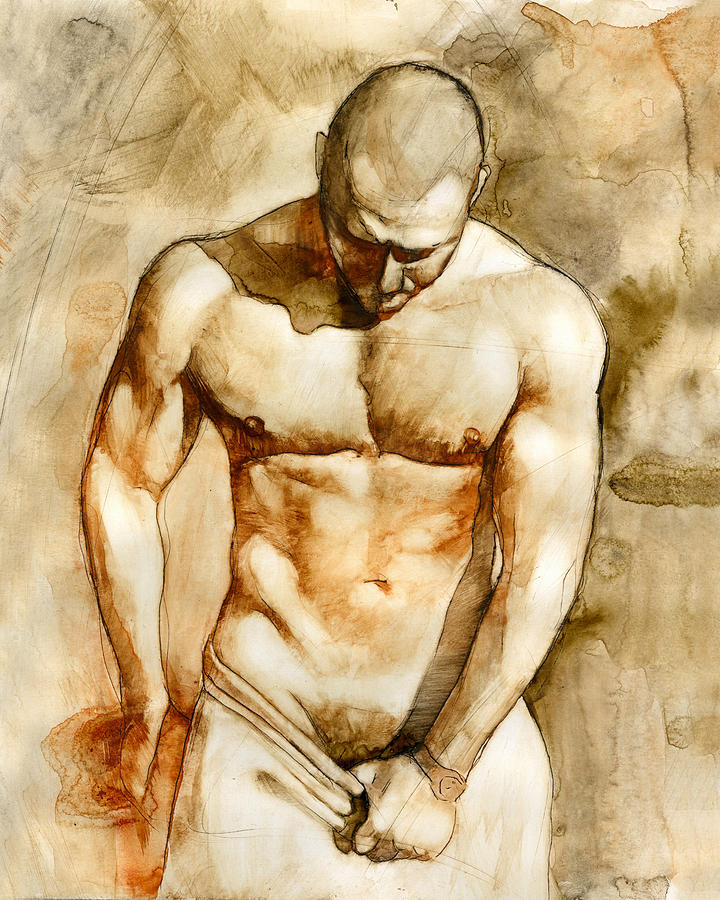 Male Nude Painting - Nude 43 by Chris Lopez