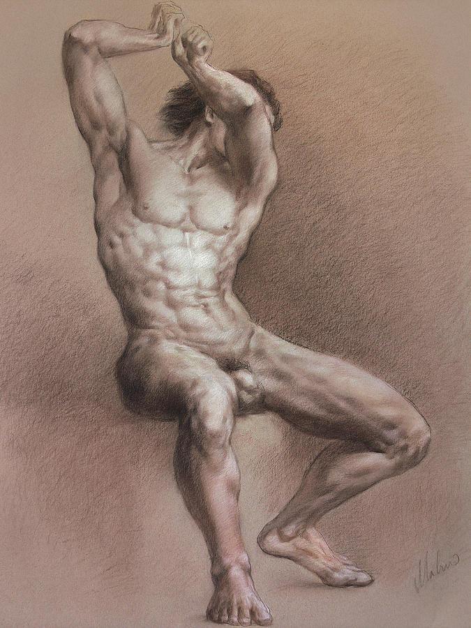 Man Drawing - Nude 9 by Valeriy Mavlo