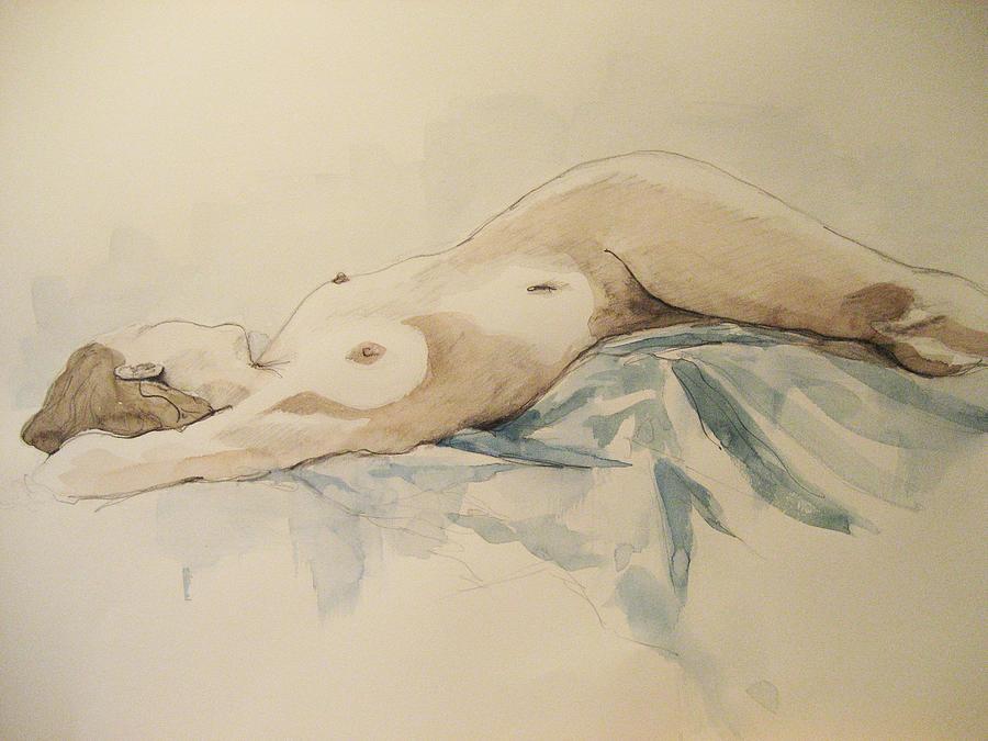 Nude Painting - Nude 9 by Victoria Heryet